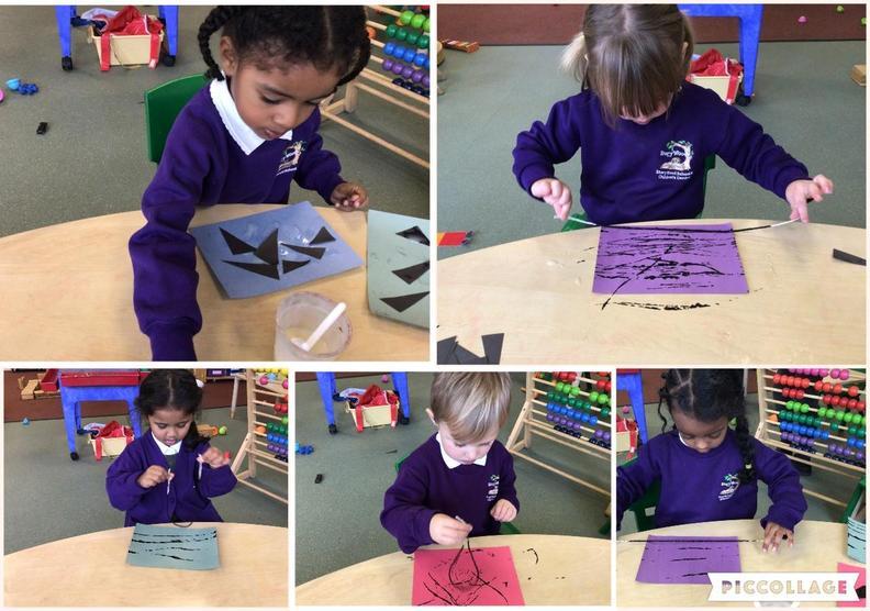 Creating Kente patterns - printing and arranging shapes.