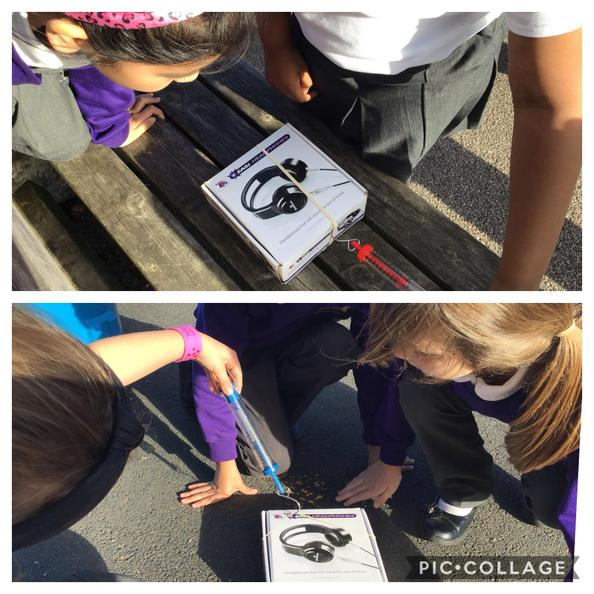 Year 3 were measuring forces today!