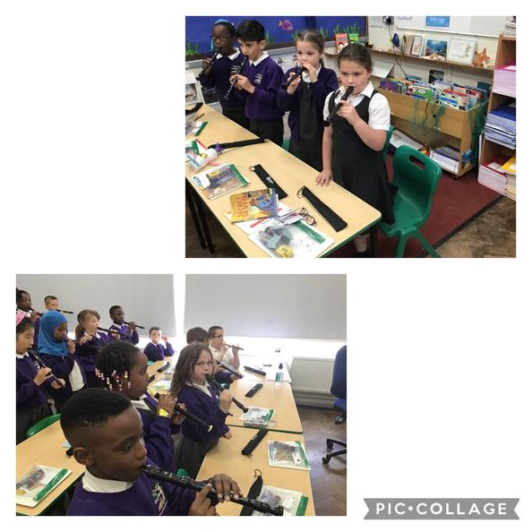Year 3 have been playing along to disco music using recorders! 🎧 🎶