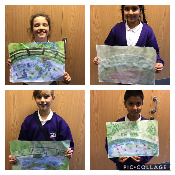 We have been learning about Impressionism. Y5 recreated the Waterlillies painting by Monet