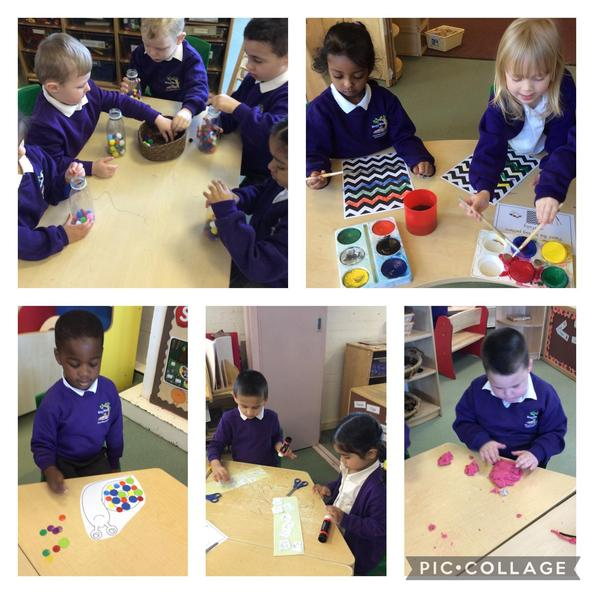 We took part in lots of activities to develop our fine motor skills this morning.