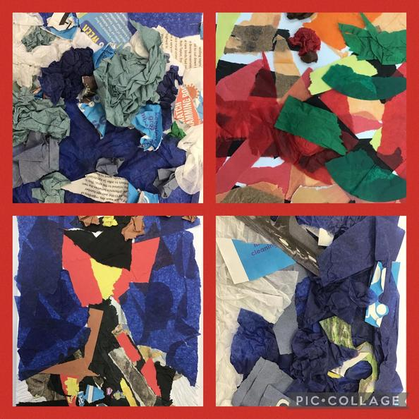 We have created collages inspired by different natural disasters.