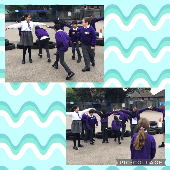 We re-enacted the functions of the lungs on the playground.