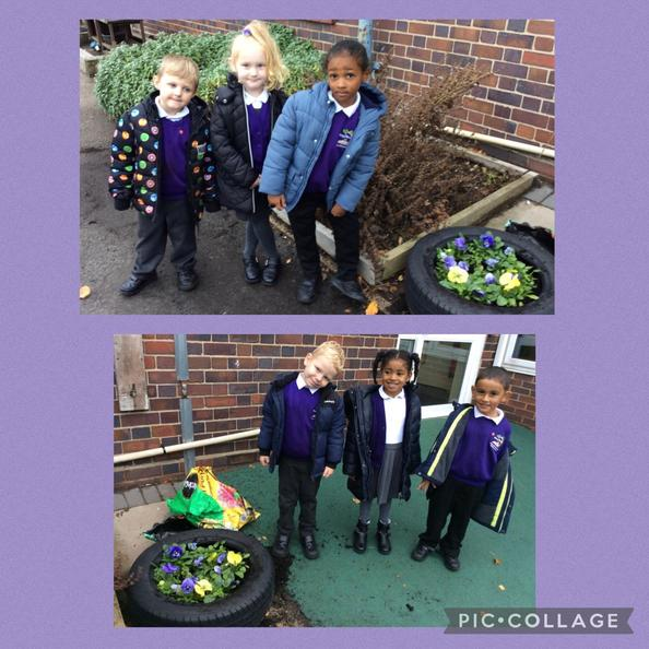 During our Jigsaw lesson, we talked about the responsibility of looking after our plants.