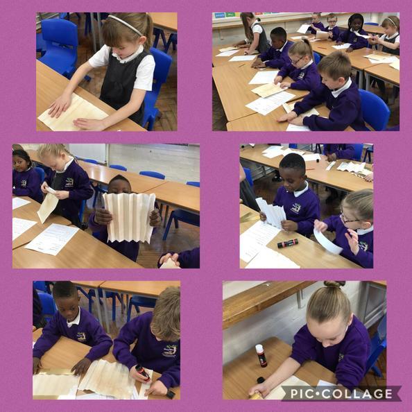We followed instructions carefully to make lanterns like Florence Nightingale.