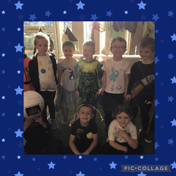 We dressed up as aliens, astronauts and planets