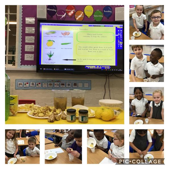 We were inspired to create herbal remedies after learning all about Mary Seacole.