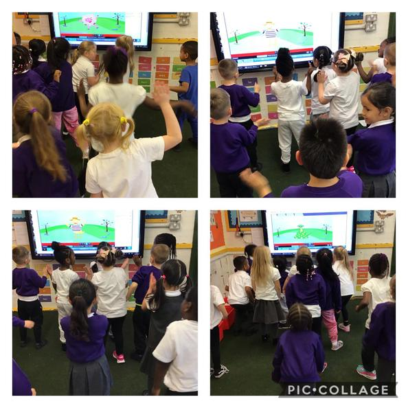 Finding the pulse in our music lesson.
