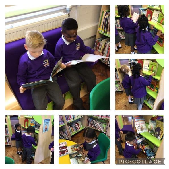 We enjoyed choosing story books to take home and share with our parents.