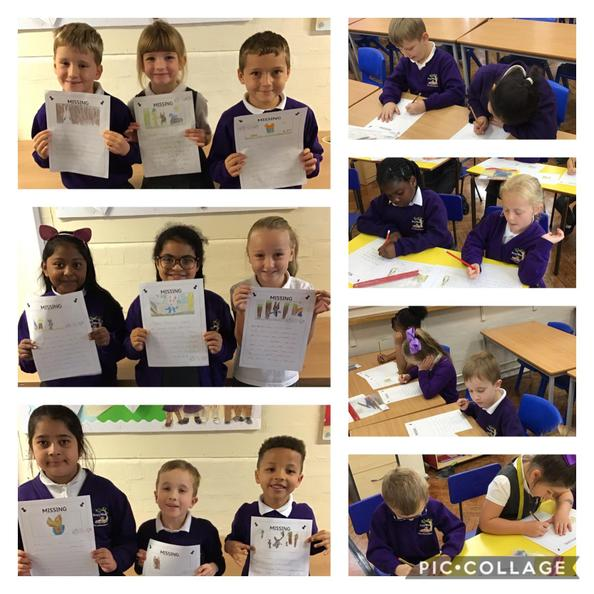 We have been creating missing posters to help find Peter Rabbit. Have you seen him?