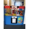 A shop role play area in Reception.