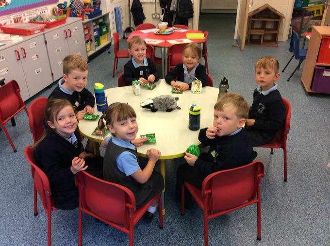 We enjoyed snack time!