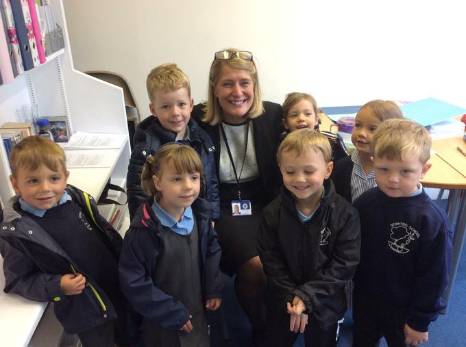 Mrs Uden was very pleased to see the new Badgers.