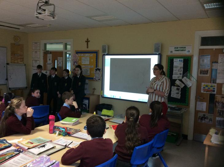 Ms Williamson tells P7 about life in St. Joseph's