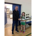 Cabragh captain receives JPM runners up cup