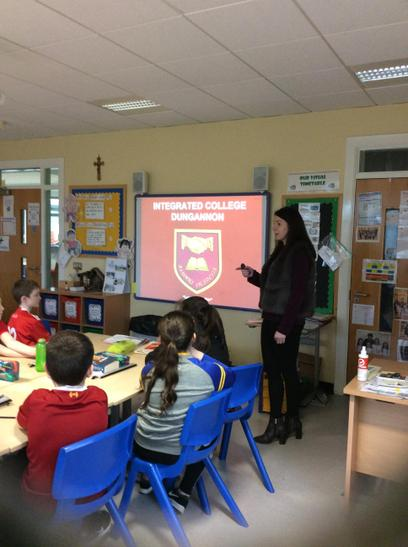 Miss Donnelly tells P7 all about the ICD