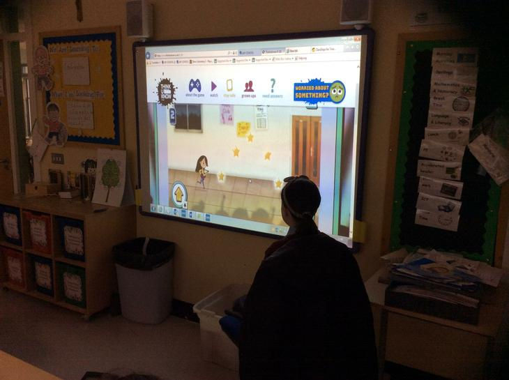 Year 7 play interactive games on Internet Safety