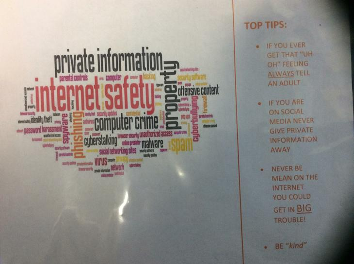 Year 7 made Safer Internet posters
