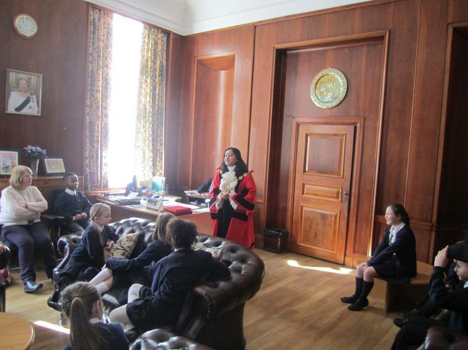 Inside the Mayor's parlour
