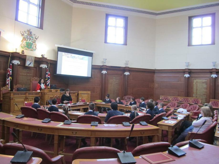 School Council in the Council Chambers