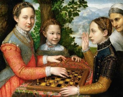 The Chess Game - by Sofonisba Anguissola, 1555