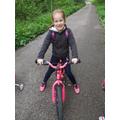 Emily enjoying a bike ride