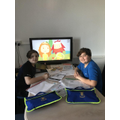 Eren and Emre hard at work!