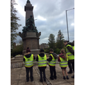 Sketching the war memorial for our art work.