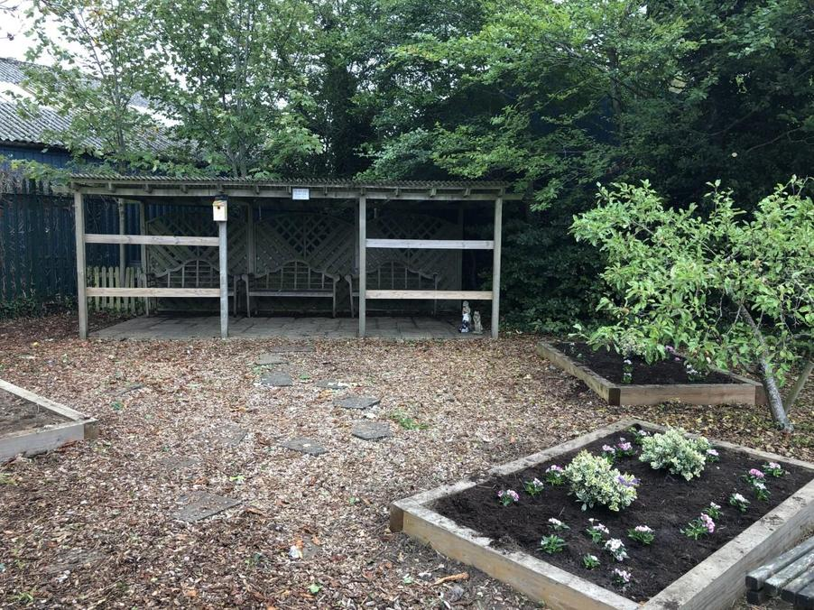 The Quiet Garden, recently refurbished by our PTA