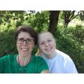 Mrs Jukes and Charlotte enjoying the sunshine