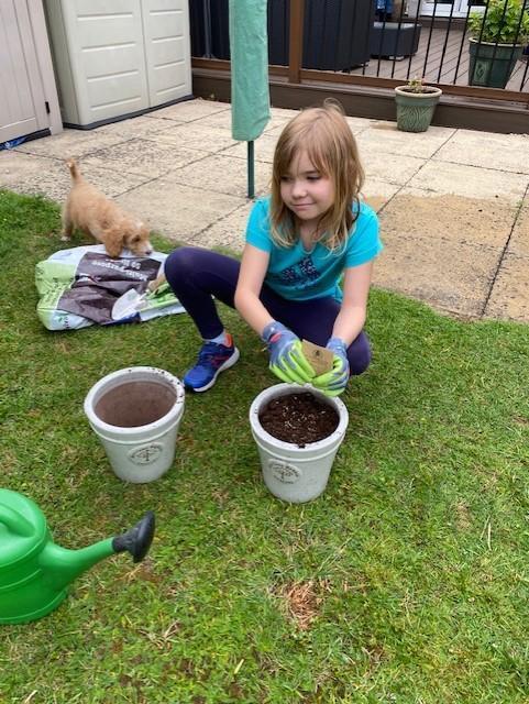 Gardening with Barney!