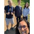 Mrs Bidmead's family walk