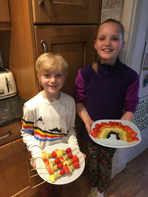 Fruit Kebabs & Rainbow Fruit
