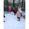 Skipping in the snow