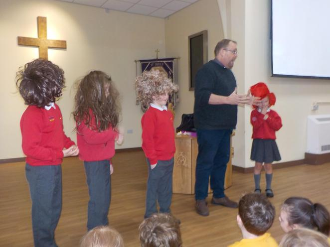Great wigs to retell the story