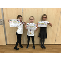A huge well done to Darcie and Annabelle who came 3rd and Poppy who placed 1st!