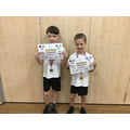 Well done to George and Reuben placing 1st and 2nd in the boys competition.