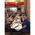 Staff enjoying their Christmas Lunch