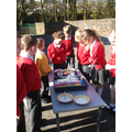 The children were experimenting with bubbles -