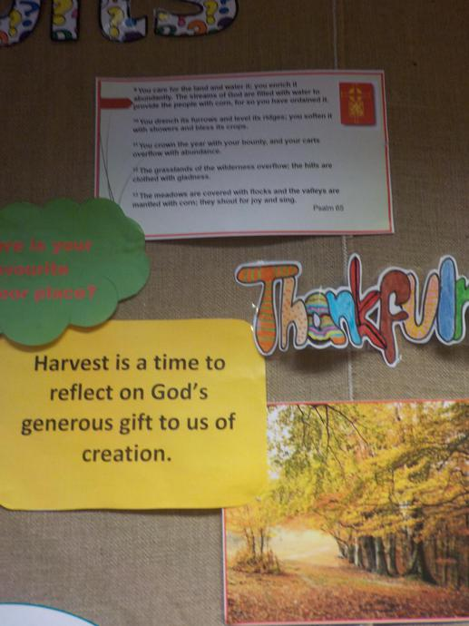 The festival celebrates the harvest.