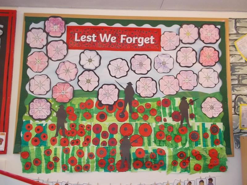 Year 4 Rememberance display