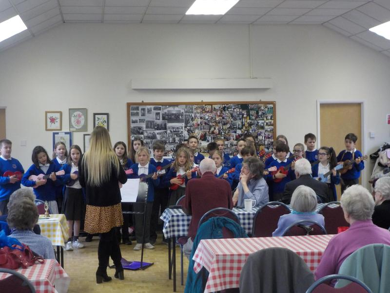Performing at the Blind Centre