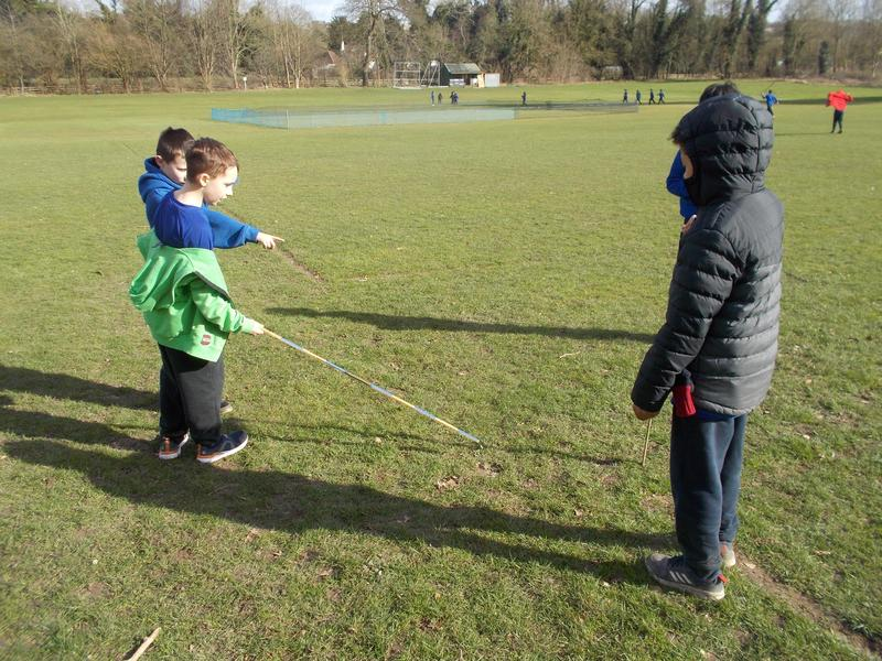 We also tried the shadow metre method but the sun went in before we finished!
