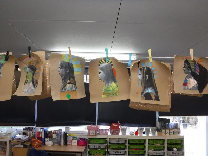A bit of fun in Year 4 because they are learning about Egyptians.