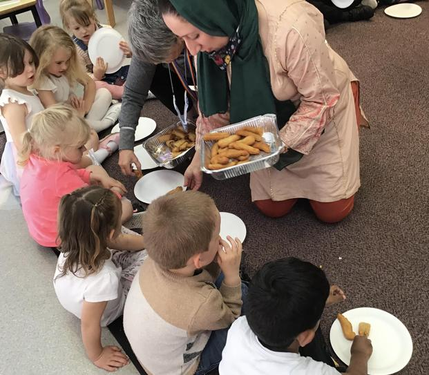 Then came the food! Mrs Riaz was very busy yesterday preparing lots of delicious treats!
