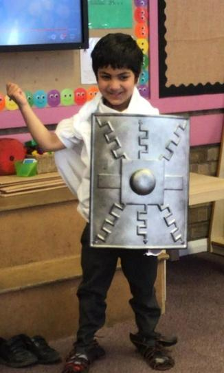 This is George. He was a soldier in the Roman army.