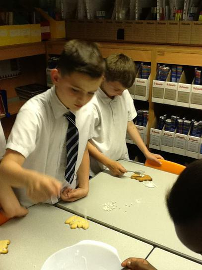 Year 5 baked their own crown biscuits