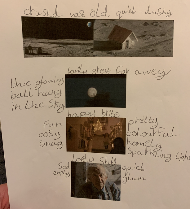 Esther improved her vocabulary to help with her story writing