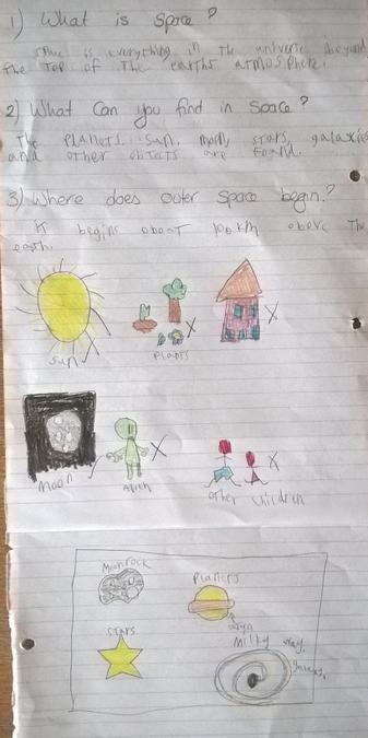 Henry created a poster about space