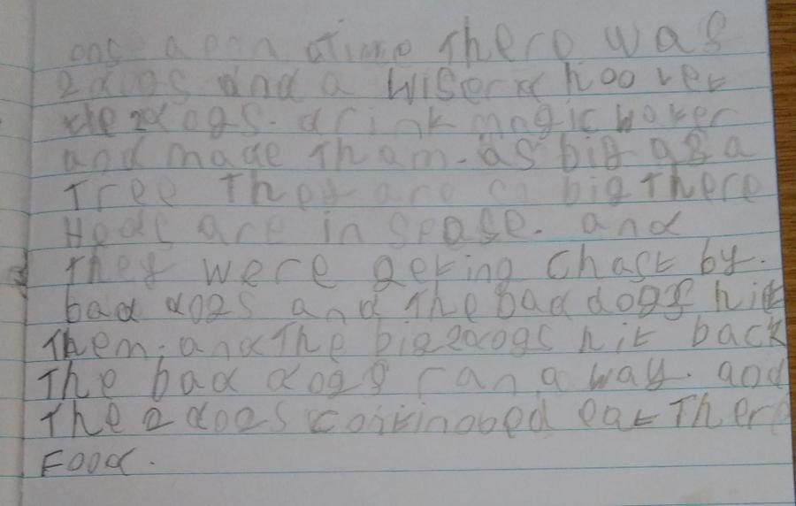 Freddie wrote an amazing story based on a picture